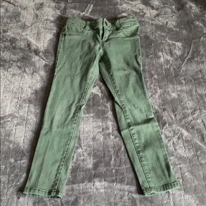 Girls olive green jeggings